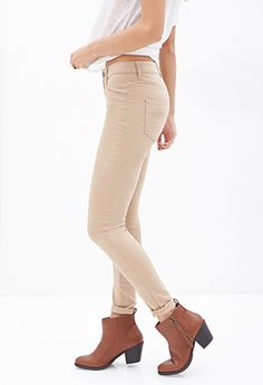 Mid-Rise - Skinny Jeans | FOREVER 21 - 2055879388