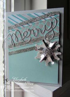 Festive Flurries stamp set and framelits, Winder Frost DSP, Frosted Finishes Embellishments, Silver Glimmer Paper