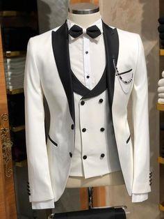 057fb54670aa Slim-Fit Tuxedo Suit Vest White