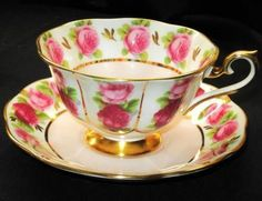 4:00 Tea...Royal Albert...English Rose...teacup and saucer