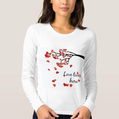 Falling heart leaves tshirt