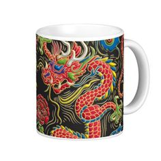 Yin Yang Phoenix and Dragon Coffee Mug