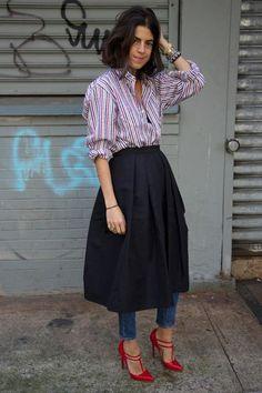 Tendencia: Falda + Pantalón - Cranberry Chic