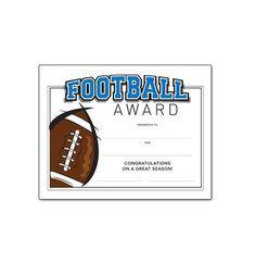 Free Printable Football Certificates And Awards  Football