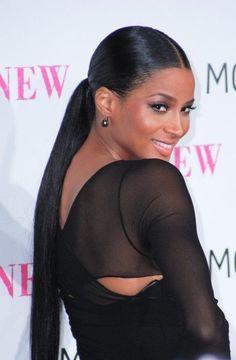 sleek ponytail hairstyle for black women - Google Search