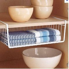 Can be added to any shelf within a pantry or even bedroom and bathroom cupboards.  Great for getting the most use out of space on a shelf.