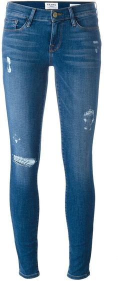 Frame Denim distressed skinny jeans