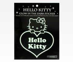 Hello Kitty Glow In The Dark Sticker: Heart