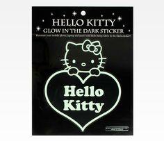 Hello Kitty Glow In The Dark Sticker: Heart