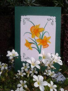 Grüße - Grusskarte -Osterglocke- - ein Designerstück von LiRaBellus bei DaWanda