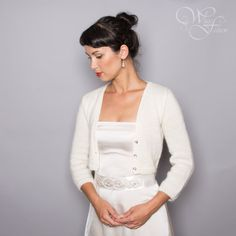 BRIDAL SWEATER a'la Kate Middleton wedding bolero by WhiteFashion