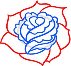 How To Draw A Rose For Beginners, Step by Step, Drawing Guide, by Dawn | dragoart.com Drawing Process, Drawing Guide, Rose Step By Step, Rose Sketch, Flower Drawing Tutorials, Drawing For Beginners, Line Art, Paper Art, Art Drawings