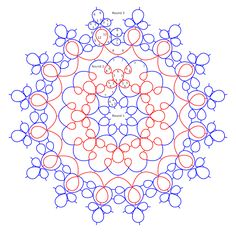 "Frauberger Doily pattern diagram .... Tatting by the Bay: 11) Drawing ""Automatic"" Pattern Repeats (Part 1)"
