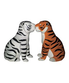 Another great find on #zulily! Tigers Salt & Pepper Shakers #zulilyfinds
