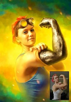 Rosie the Riveter digital art by Michael O, http://www.bymichaelo.com/doit.htm, The Iconic Rosie the Riveter redone. I LOVE THIS! Could work Rosie into teen or adult summer reading programming for summer 2015.