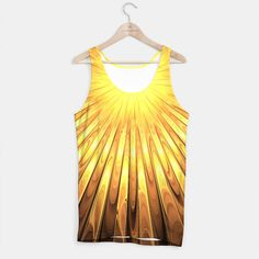 Gold Sun Tank Top, Live Heroes @liveheroes by @photography_art_decor. All product: https://liveheroes.com/en/brand/oksana-fineart #fashion #clothing #online #shop #liquid #psychedelic #abstract #golden #metalic #gold #sun #yellow #abstract #ray #briht #pattern #wave #trendy #stylish #fashionable #modern #awesome #amazing #clothes #summer
