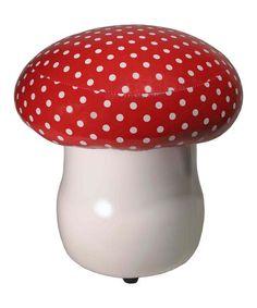 Look at this #zulilyfind! Red Cushioned Toadstool #zulilyfinds