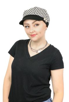Checkmate Fleece Lined Newsboy Cap For Women. Perfect as a chemo hat.  Fleece lined 7c7659976942