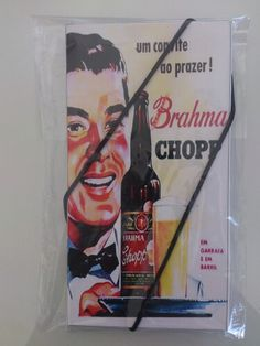 Livreto de Bolso retrô Brahma chopp