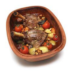 Lammeskank i leirgryte (Römertopf) Pot Roast, Nom Nom, Health Fitness, Vegan, Mad, Ethnic Recipes, Carne Asada, Roast Beef, Vegans