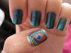 simplyathought:    Peacock design nails