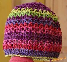 HÁČKOVÁNÍ - * jarní jednoduchá čepička * Knitted Hats, Crochet Hats, Crochet For Kids, Yarn Crafts, Beanie, Knitting, Fashion, Crochet Cap, Caps Hats