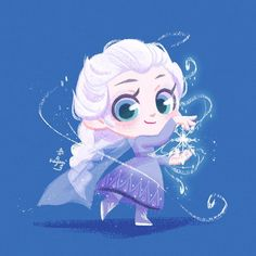 Anime Disney Princess, Baby Disney Characters, Disney Princess Cartoons, Disney Princess Pictures, Disney Princess Drawings, Disney Character Drawings, Disney Frozen Elsa, Disney Movies, Kawaii Disney