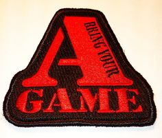 Bring your A Game Tactical Morale Patch by TacticalTextile on Etsy