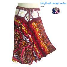 Crochet skirts - Dresses with Thai Pattern Hawaiian Hippie Boho,Hobo red orange