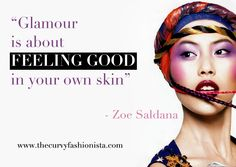 Glamour is about Feeling Good in Your Own Skin