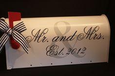 Wedding Mailbox- Card Box - Standard USPS size - Mr. and Mrs. - Vintage Feel