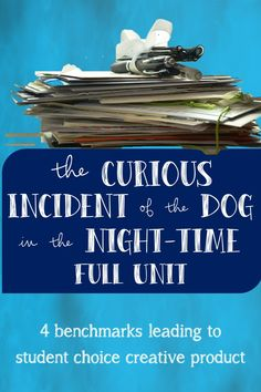The Curious Incident of the Dog in the Night-time Full Unit (PBL) Reading Comprehension, Night Time, Quizzes, Assessment, The Fosters, Opportunity, Literature, Novels, Students