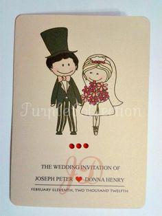 Cute Couple Wedding Invitation Card - Setapak