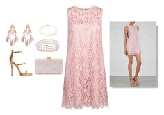 """""""pink and pearls"""" by gelistefan ❤ liked on Polyvore featuring Dolce&Gabbana, Giuseppe Zanotti, Edie Parker, Larkspur & Hawk and Tiffany & Co."""