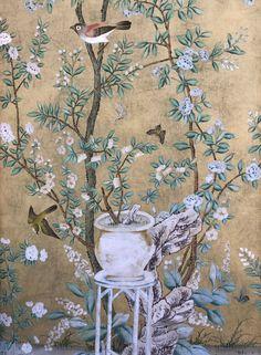De Gournay Wallpaper, Tea Wallpaper, Oriental Wallpaper, Chinoiserie Wallpaper, Luxury Wallpaper, Wallpaper Panels, Wallpaper Samples, Custom Wallpaper, Silver Leaf Wallpaper