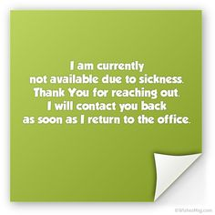 Here are some examples of formal and funny out of office messages you can try for sick leave, holiday, vacation or as your auto reply message. Out Of Office Reply, Out Of Office Message, The Office, Auto Reply Message, Back Message, Catch The Cat, Off Sick, Praying To God, Winning The Lottery