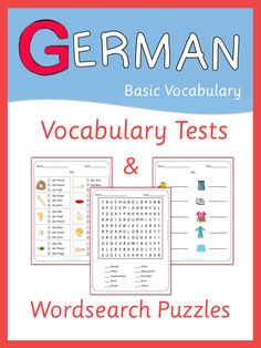 More than 200 pages of German vocabulary tests and wordsearch puzzles.