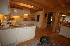 Log Home Unterwössen Open Kitchen | Blockhaus Unterwössen Offene Küche