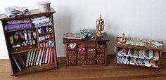 showcases miniatures - small gift ... - Miniature haberdashery - small haberdashery - while small - The world tissuline