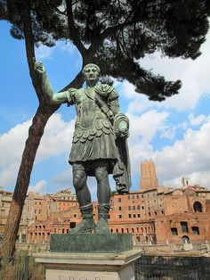 Julius Caesar was born in Rome and quickly advanced throughout the political system. After gaining much power, he used it to his advantage to strengthen the government and carry out much-needed reform by enlarging the Senate, diminishing debt, and by building the Forum Iulium.