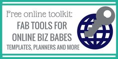 Business planning tools and templates for online biz