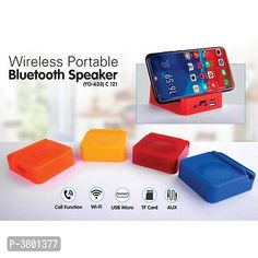 Water Resistant Portable Bluetooth Speakers from Tharsith Collection Wireless Wifi Router, Mini Bluetooth Speaker, Indian Gowns, Portable, Usb Flash Drive, Gadgets, Random, Colors, Water