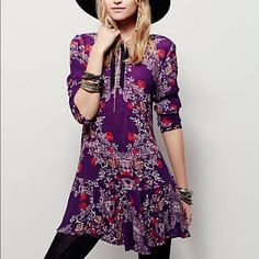 Free People Smooth Talker Tunic Love love this tunic from FP! Looks great worn alone or with leggings. I have this in yellow and LOVE it, the purple just isn't my color! Still retails for $108 at FP! ☺️ Free People Dresses Mini