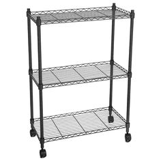 Homdox Heavy Duty Shelves Storage Organizer Wire Shelving Unit Rolling Cart Rack with Wheels,Black Rolling Shelves, Rolling Rack, Rolling Storage Cart, Wire Storage Shelves, Metal Shelving Units, Storage Racks, Pantry Storage, Organizing Wires, Iron Shelf