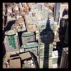 CN Tower shadow in Toronto, Canada
