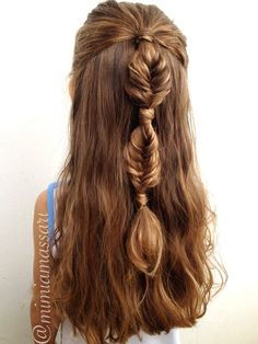 Bubble fishtail braid. Cool!