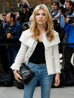 Clemence Poessy's lovely Chanel 2.55 Reissue Bag - Paris Fashion Week Spring 2014-33