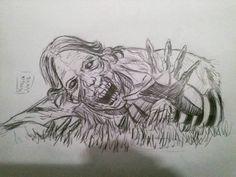 Zumbi do The Walking Dead.