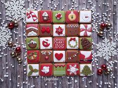 Christmas Cookies Gift, Halloween Cookies, Christmas Treats, Christmas Baking, Kids Calendar, Countdown Calendar, Christmas Stencils, Advent Calenders, Printable Christmas Cards