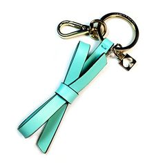 Kate Spade New York Leather Bow Gold Key Chain (Tiffany Blue)